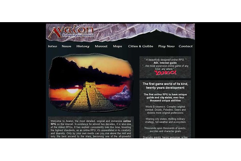The Online RPG, Avalon; The Legend Lives. Be a Druid, Seer ...