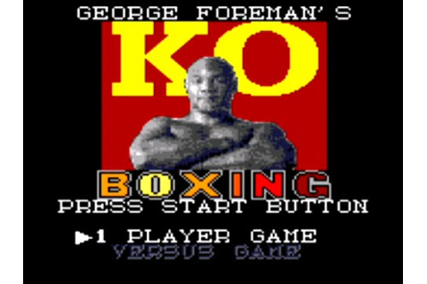 George Foreman KO Boxing - Sega Game Gear - YouTube