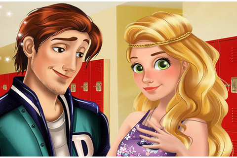 Disney High School Love - Rapunzel, Ariel and Cinderella ...