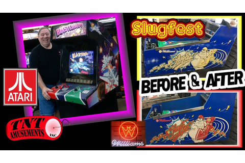 #1387 Atari BLASTEROIDS Arcade Video Game & SLUGFEST gets ...