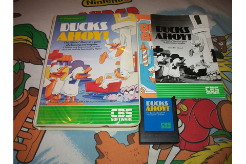 Ducks Ahoy! Commodore 64 Cartridge Game Complete Box ...