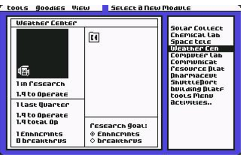 Earth Orbit Stations Download (1987 Simulation Game)