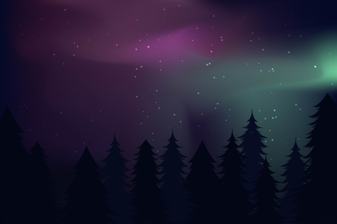 Northern Lights Landscape Vectors - Download Free Vector ...