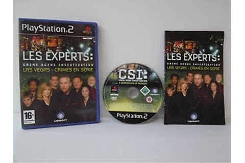 Les experts Las Vegas crimes en série Jeu PS2 Playstation ...