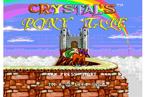 Play Crystal's Pony Tale Sega Genesis online | Play retro ...
