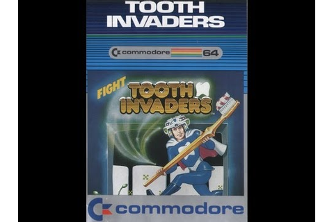 TOOTH INVADERS C64 COMMODORE 64 SOFTWARE 1982 RETRO VIDEO ...