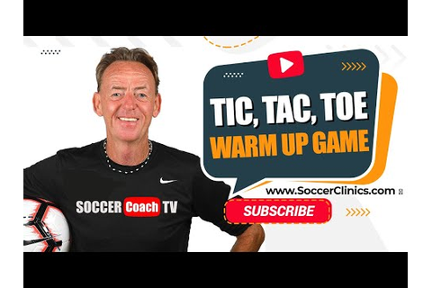SoccerCoachTV.com - Tic, Tac,Toe warm up game - YouTube