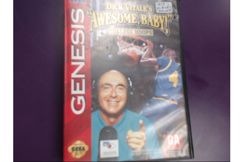 "SEGA GENESIS DICK VITALE'S ""AWESOME BABY!"" COLLEGE HOOPS ..."