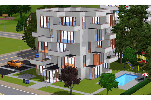 Sims 3 - Appartement cubique | Cubic apartment ...