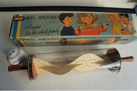 Vintage Swedish Roll Around Game by Brio with Box