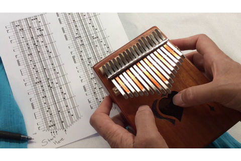 Tab for 17 note Kalimba in C - YouTube