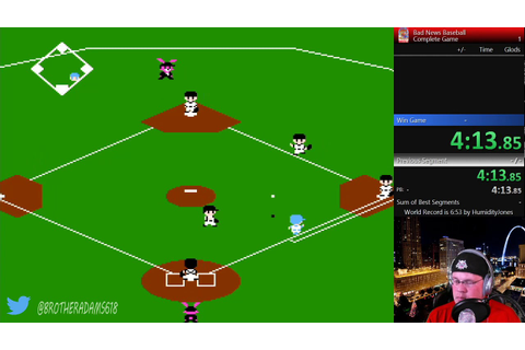 Bad News Baseball - Complete Game- Speedrun 8:18.81 - YouTube