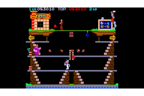 Arcade Game: Popeye (1982 Nintendo) - YouTube