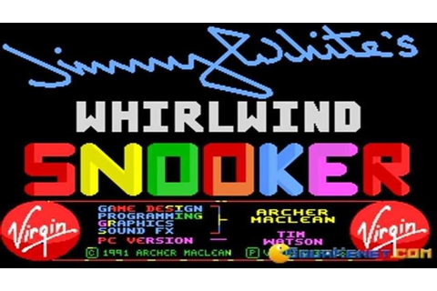 Jimmy Whites Whirlwind Snooker gameplay (PC Game, 1991 ...
