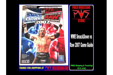 WWE SmackDown vs Raw 2007 Video Game Guide - YouTube