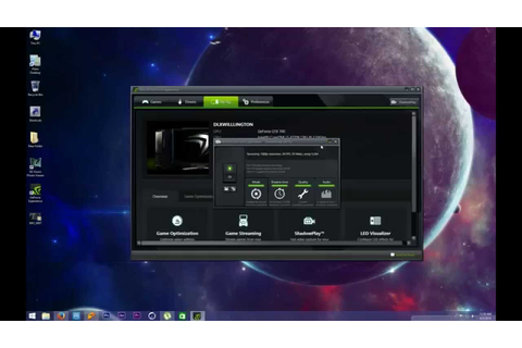 HOW TO Screen record / desktop capture Using GeForce ...