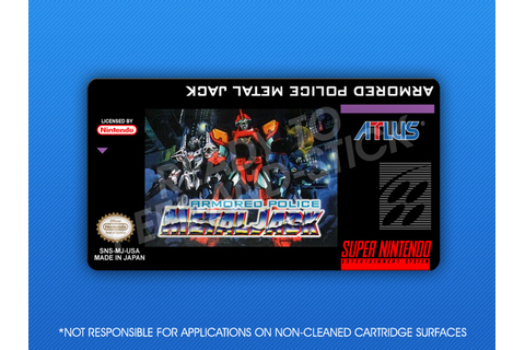 SNES - Armored Police Metal Jack Label | Retro Game Cases