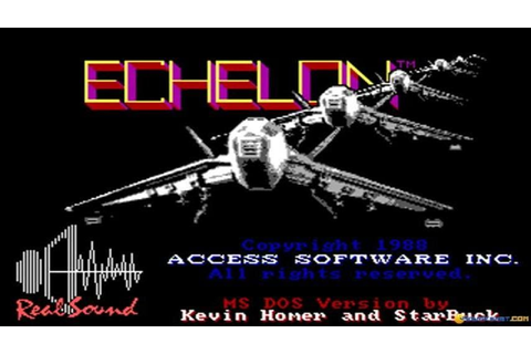Echelon gameplay (PC Game, 1987) - YouTube