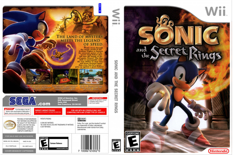Sonic & The Secret Rings - Nintendo Wii Game Covers ...