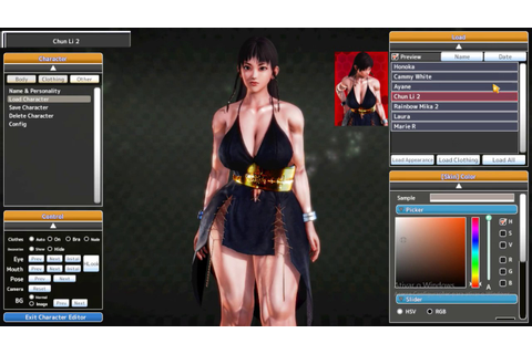 Street Fighter and Dead or Alive chars on jap ero game ...