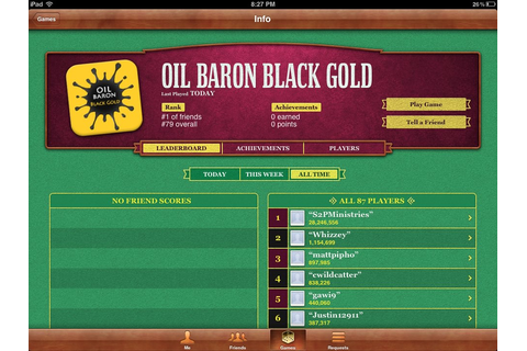 Oil Baron Black Gold Game App | Oil Baron is a best ...
