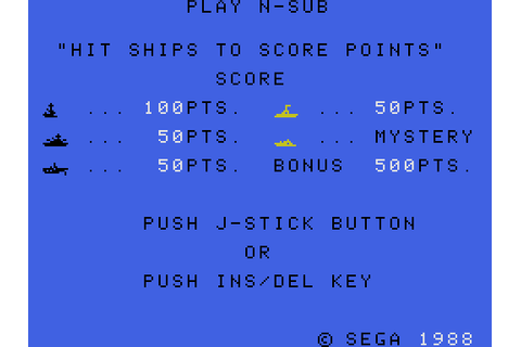 N-Sub (1983) by Compile SG-1000 game