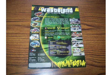 WASTELAND RACERS 2071 VIDEO ARCADE GAME FLYER BROCHURE on ...