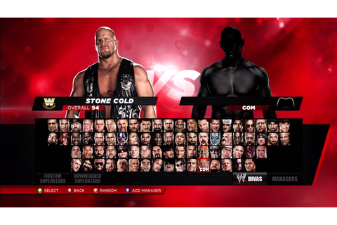 WWE 2K14 ALL CHARACTERS UNLOCKED - YouTube