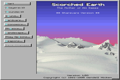 Скачать Scorched Earth: The Mother of All Games (DOS) 1991