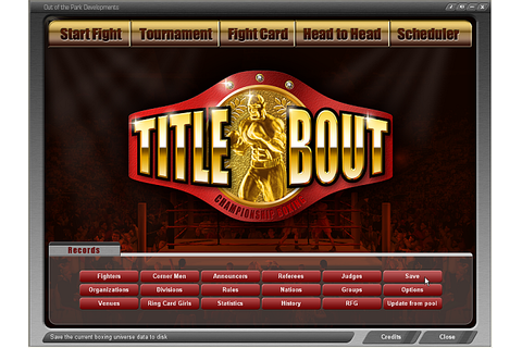 Title Bout Championship Boxing - TB2.5 Manual/Saved Games