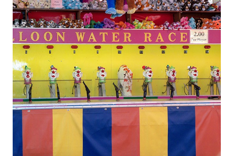 Balloon Water Race Carnival Game, Athens Fair. | Flickr ...