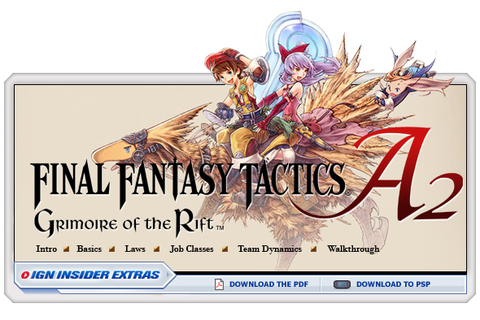 Final Fantasy Tactics A2: Grimoire of the Rift - ds ...