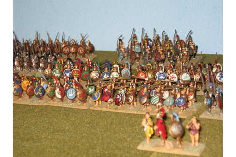 Marks Gaming Blog: AAR; Greek Hoplites (Basic Impetus 2)