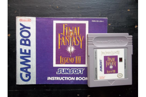Final Fantasy Legend III, Square, 1993 (With instructions ...