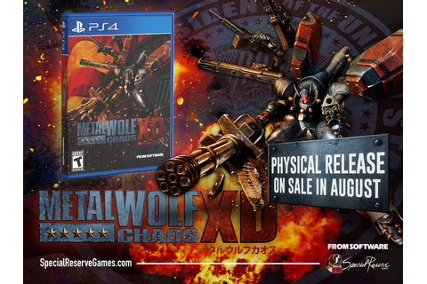 Metal Wolf Chaos XD PS4 limited run physical edition ...