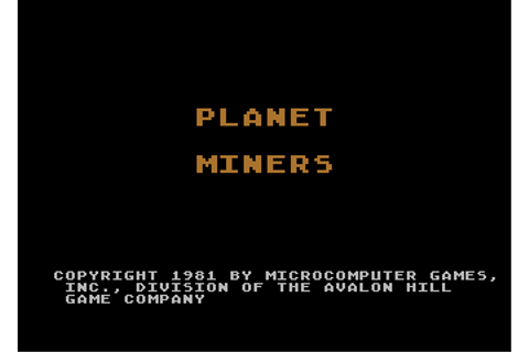 Download Planet Miners - My Abandonware