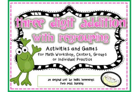 Three Digit ADDITION with REGROUPING Games by Hollis ...
