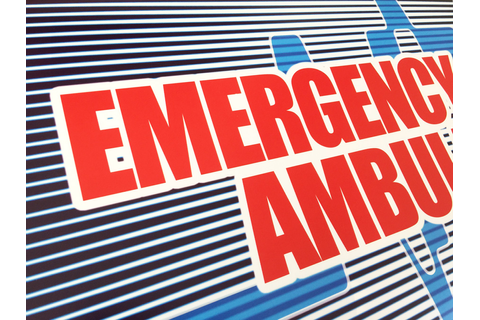Emergency-call-ambulance-marquee3 - Arcade Art Shop