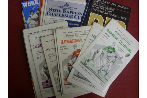 Rugby League, Challenge Cup, a collection of 43 programmes ...