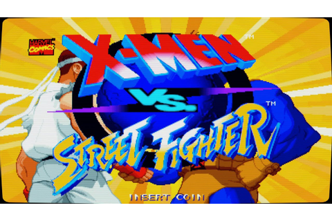 X-Men Vs Street Fighter Intro (Arcade Game) - YouTube