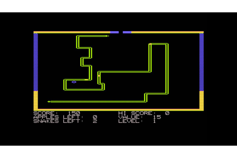 Snake Byte for the Atari 8-bit family - YouTube