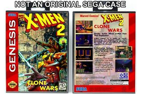 X-Men 2: Clone Wars - Sega Genesis Custom Case *NO GAME ...