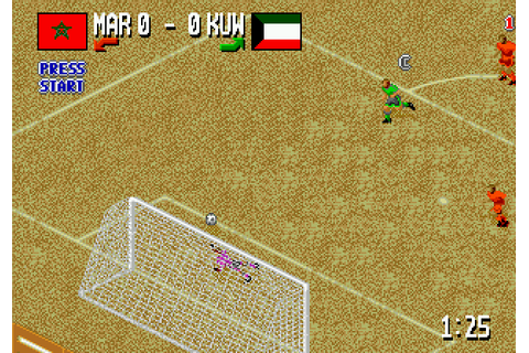 Fever Pitch Soccer (1995) by U.S. Gold Mega Drive game