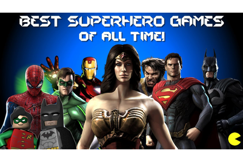 BEST SUPERHERO GAMES OF ALL TIME-TOP SUPERHERO GAMES - YouTube