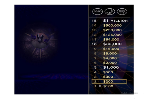 Halloween - Who Wants to Be a Millionaire Game worksheet ...