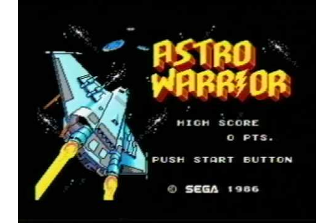 Classic Game Room - ASTRO WARRIOR for Sega Master System ...