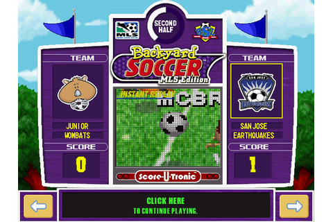Backyard Soccer MLS Edition Download - Old Games Download