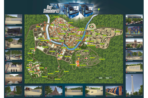 Download and print the Bus Simulator 16 Map