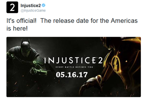 All Games Delta: Injustice 2 Launching May 16