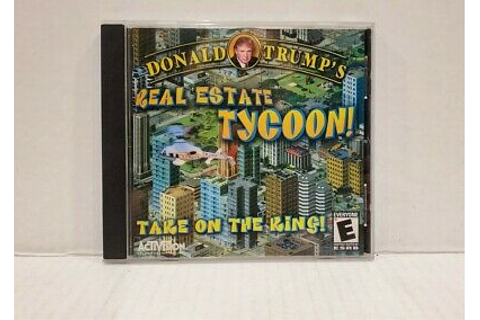 Donald Trump's Real Estate Tycoon 2002 PC Game RARE Take ...